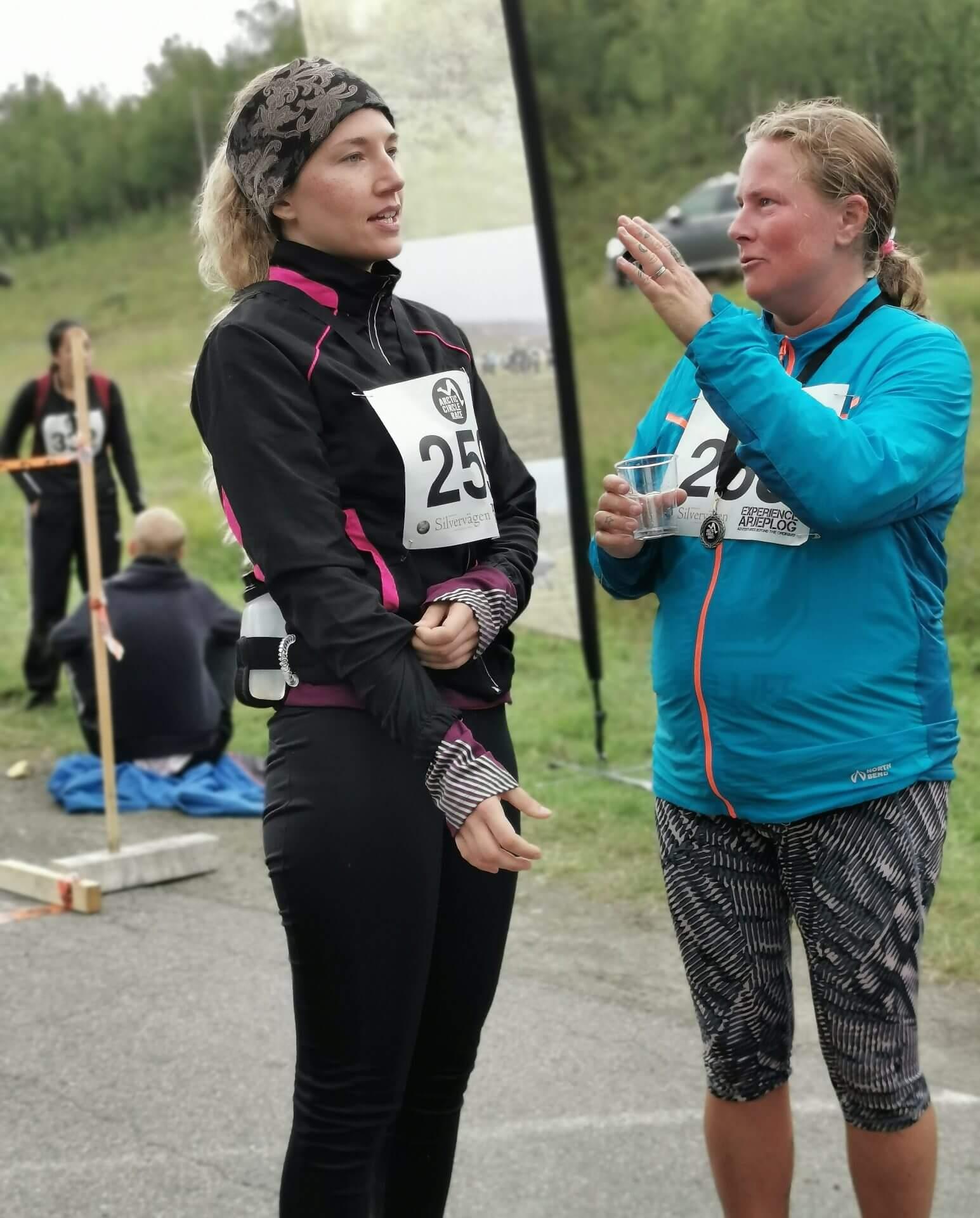 Arctic Circle Race 2019 Polcirkelloppet Guijaure mål snack