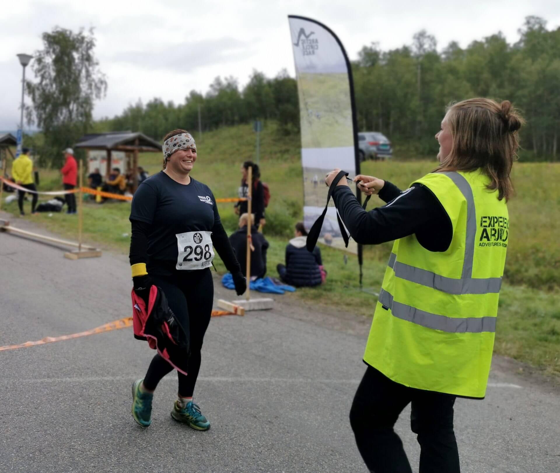 Arctic Circle Race 2019 Polcirkelloppet Guijaure nr 298 mål