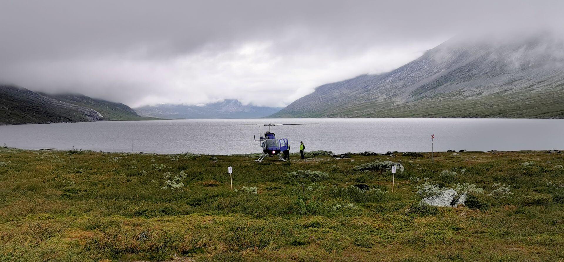 Arctic Circle Race 2019 Polcirkelloppet Guijaure start heli3