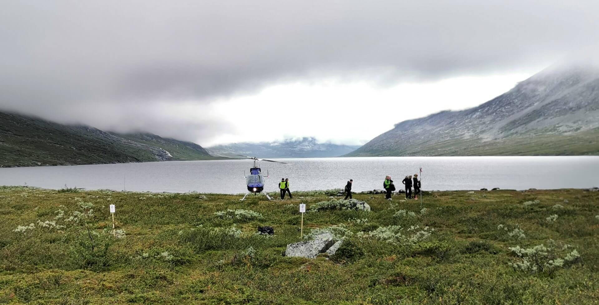 Arctic Circle Race 2019 Polcirkelloppet Guijaure start heli4