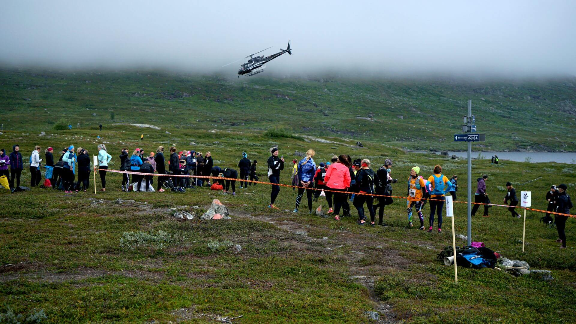 Arctic Circle Race 2019 Polcirkelloppet Guijaure start heli6
