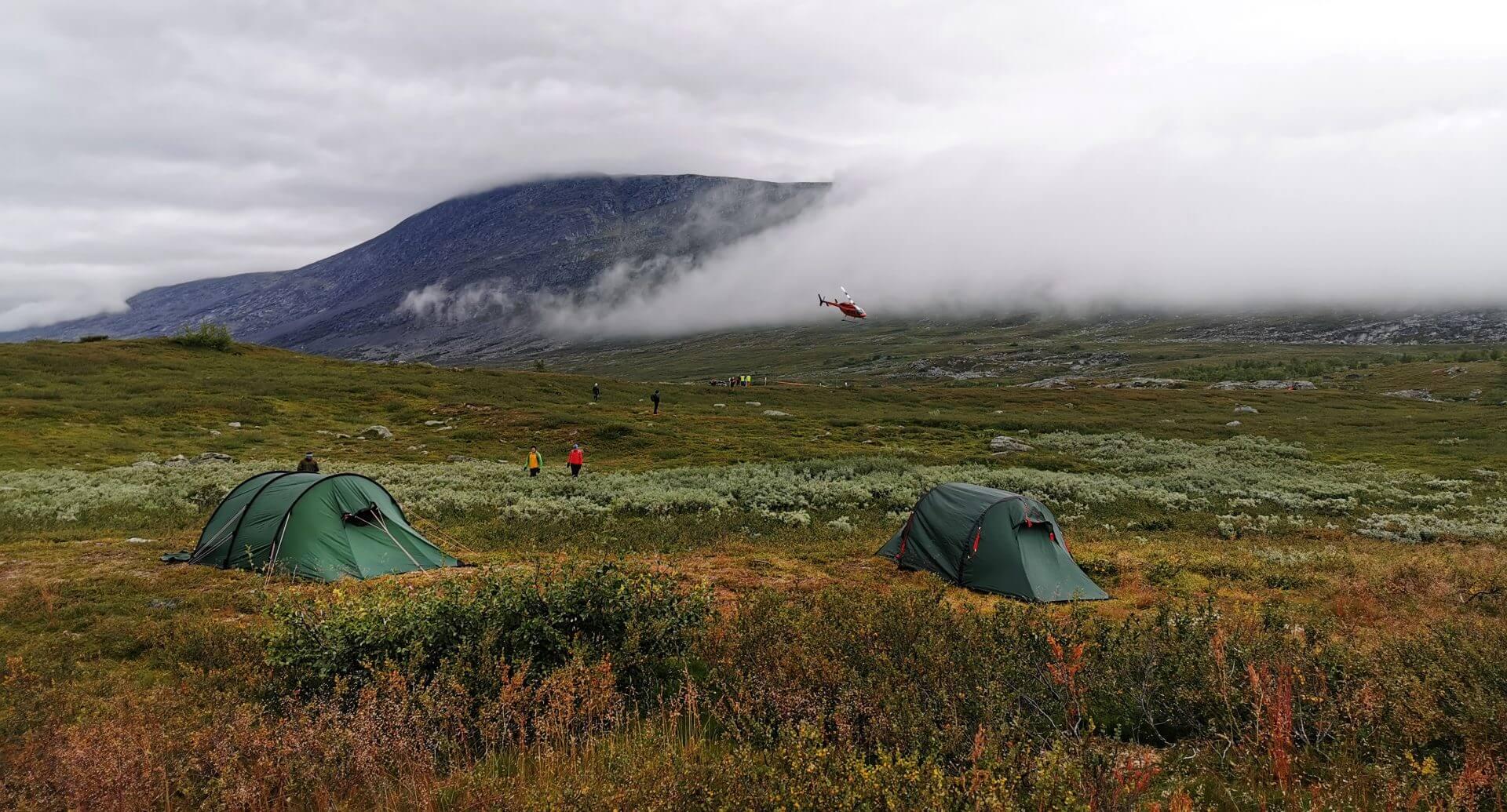 Arctic Circle Race 2019 Polcirkelloppet Guijaure start heli7