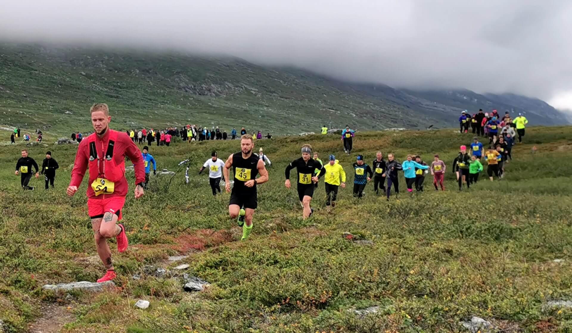 Arctic Circle Race 2019 Polcirkelloppet Guijaure start tre i täten