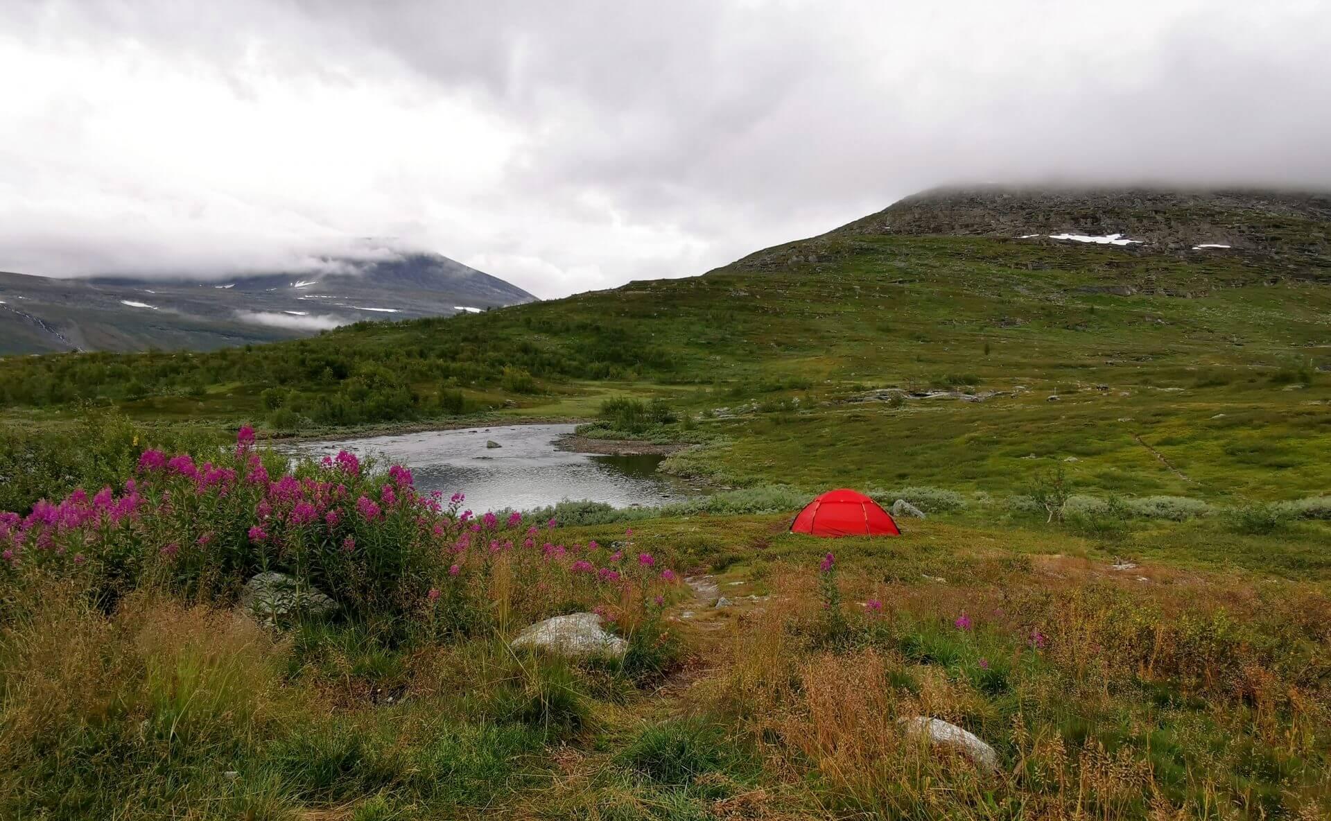 Arctic Circle Race 2019 Polcirkelloppet Guijaure tält